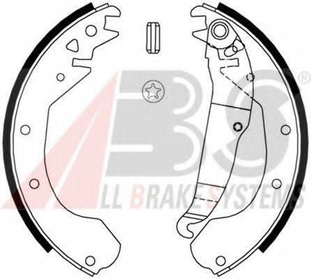 A.B.S. 8807 Комплект тормозных колодок