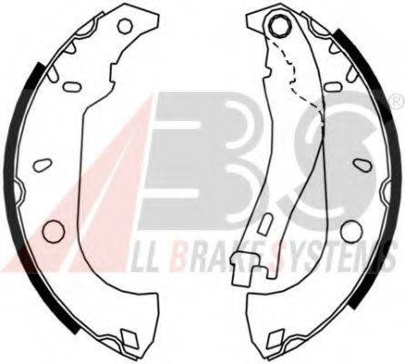 A.B.S. 8832 Комплект тормозных колодок