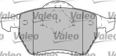 VALEO 597260 Комплект тормозных колодок, дисковый тормоз