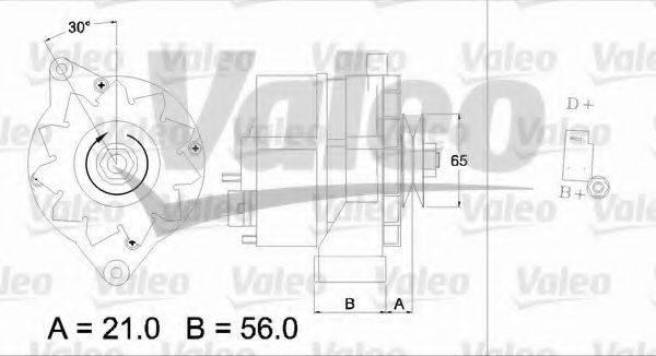 VALEO 436157 Генератор