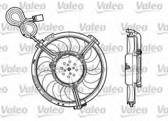 VALEO 698658 Вентилятор, охлаждение двигателя
