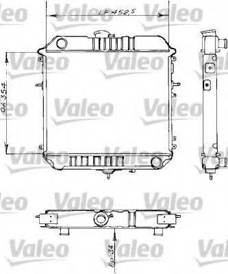 VALEO 730155 Радиатор, охлаждение двигателя