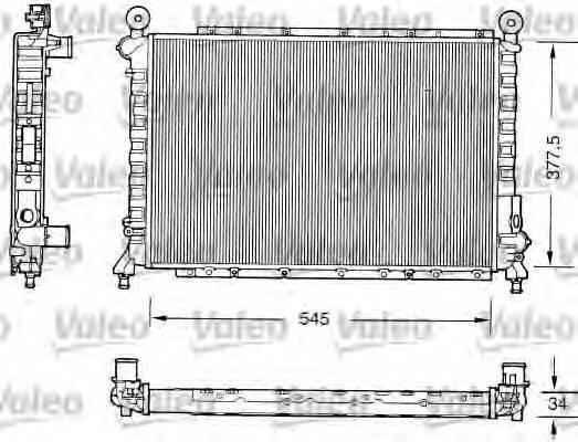 VALEO 731559 Радиатор, охлаждение двигателя