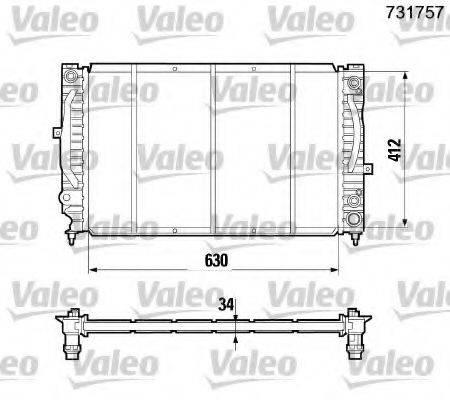 VALEO 731757 Радиатор, охлаждение двигателя