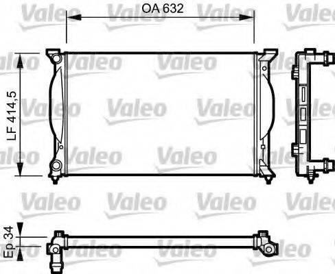 VALEO 732963 Радиатор, охлаждение двигателя