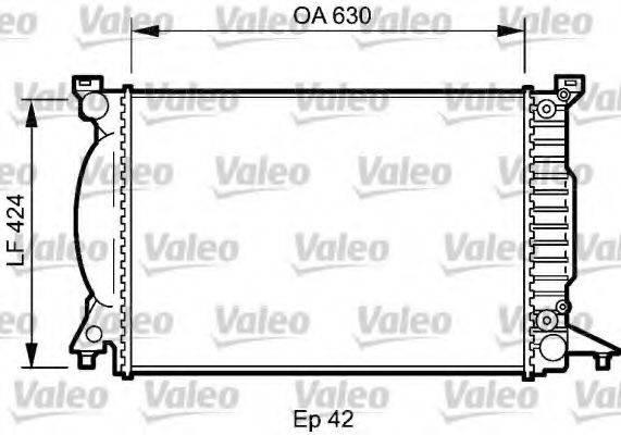 VALEO 735025 Радиатор, охлаждение двигателя