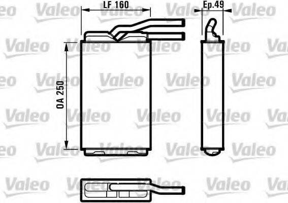 VALEO 812153 Теплообменник, отопление салона