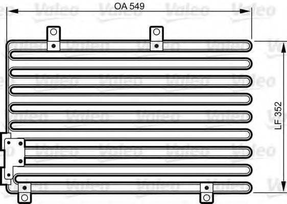 VALEO 816973 Конденсатор, кондиционер