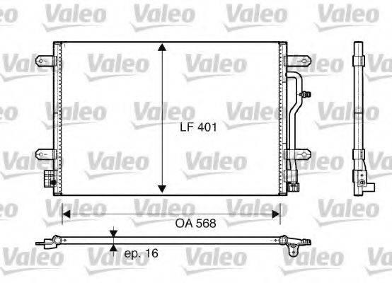 VALEO 817741 Конденсатор, кондиционер