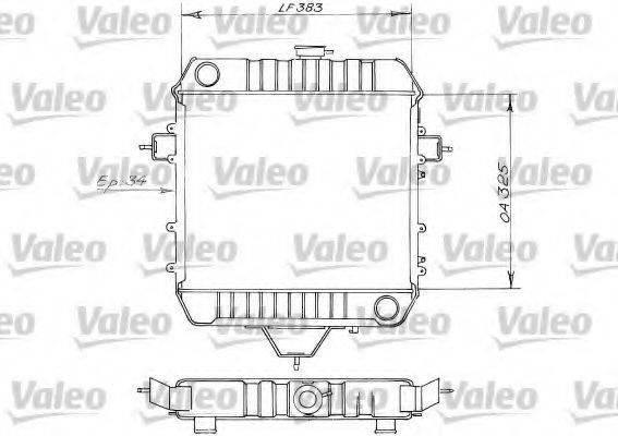 VALEO 819203 Радиатор, охлаждение двигателя
