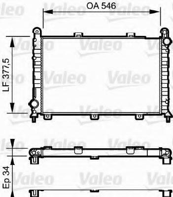 VALEO 731251 Радиатор, охлаждение двигателя