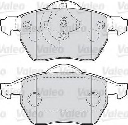 VALEO 598483 Комплект тормозных колодок, дисковый тормоз