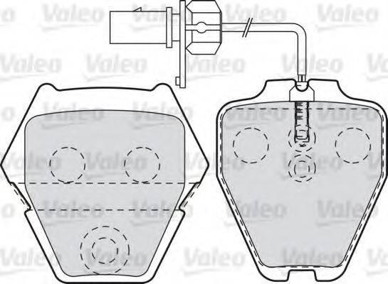 VALEO 598992 Комплект тормозных колодок, дисковый тормоз