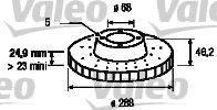 VALEO 197222 Тормозной диск