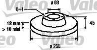 VALEO 197038 Тормозной диск