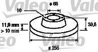 VALEO 186856 Тормозной диск