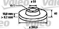 VALEO 186155 Тормозной диск