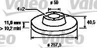 VALEO 186154 Тормозной диск