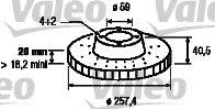 VALEO 186153 Тормозной диск