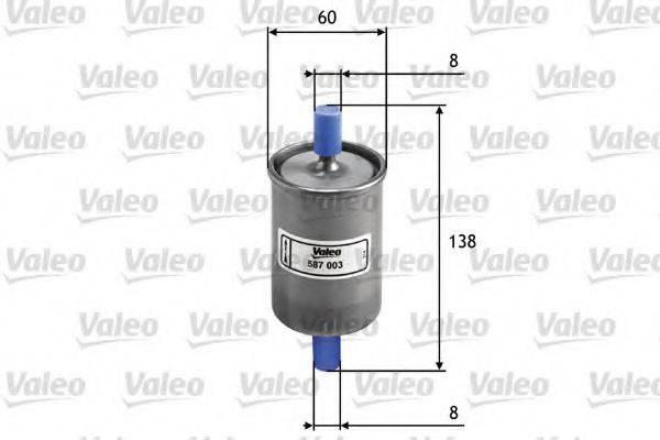 VALEO 587003 Топливный фильтр