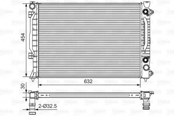 VALEO 734753 Радиатор, охлаждение двигателя