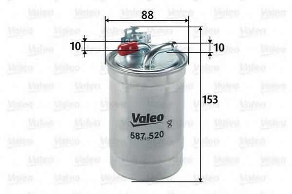VALEO 587520 Топливный фильтр