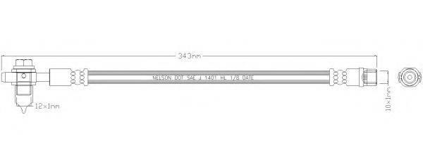 REMKAFLEX 3923 Тормозной шланг