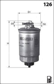 MECAFILTER ELG5321 Топливный фильтр