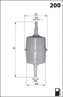 MECAFILTER E01 Топливный фильтр