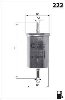 MECAFILTER E03 Топливный фильтр