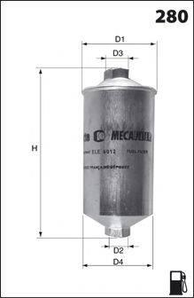 MECAFILTER E16 Топливный фильтр