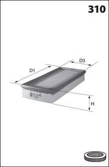 MECAFILTER ELP3617 Воздушный фильтр