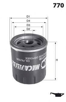 MECAFILTER ELH4120 Масляный фильтр
