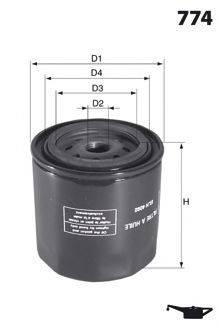 MECAFILTER ELH4280 Масляный фильтр