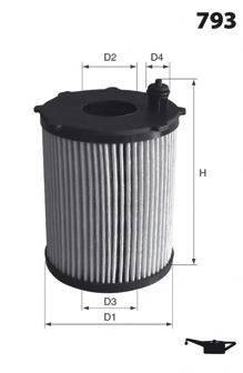 MECAFILTER ELH4383 Масляный фильтр