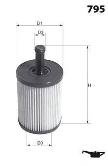MECAFILTER ELH4307 Масляный фильтр