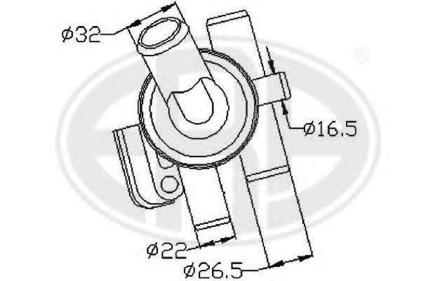 ERA 350265 Термостат, охлаждающая жидкость