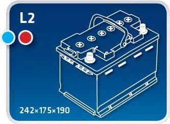 IPSA TME55 Стартерная аккумуляторная батарея