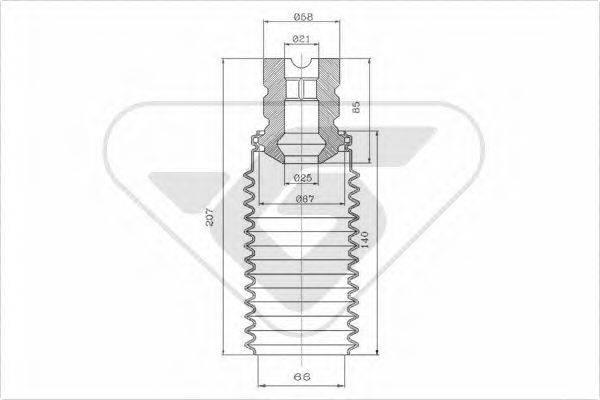 HUTCHINSON KP066 Пылезащитный комплект, амортизатор