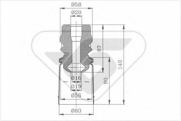 HUTCHINSON KP097 Пылезащитный комплект, амортизатор