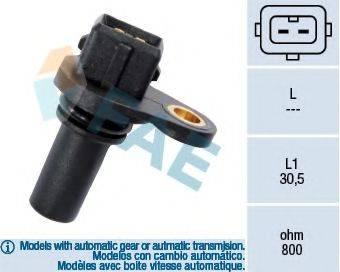 FAE 79008 Датчик частоты вращения, управление двигателем; Датчик частоты вращения, автоматическая коробка передач
