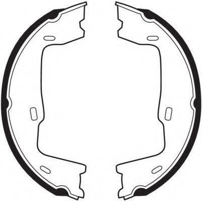 NECTO N1565 Комплект тормозных колодок, стояночная тормозная система