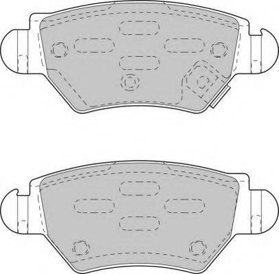 NECTO FD6789A Комплект тормозных колодок, дисковый тормоз