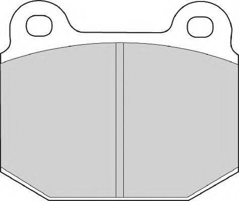 NECTO FD465A Комплект тормозных колодок, дисковый тормоз
