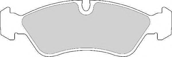NECTO FD6277A Комплект тормозных колодок, дисковый тормоз