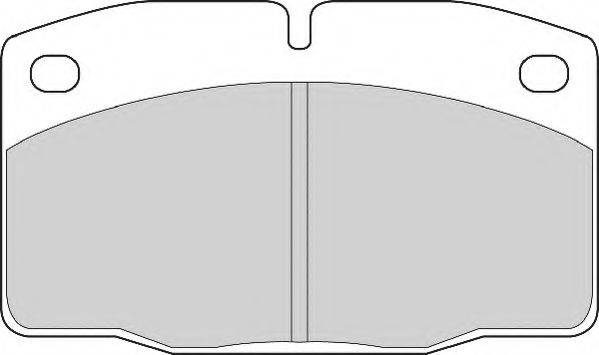 NECTO FD817A Комплект тормозных колодок, дисковый тормоз