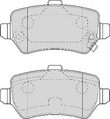 NECTO FD6955A Комплект тормозных колодок, дисковый тормоз