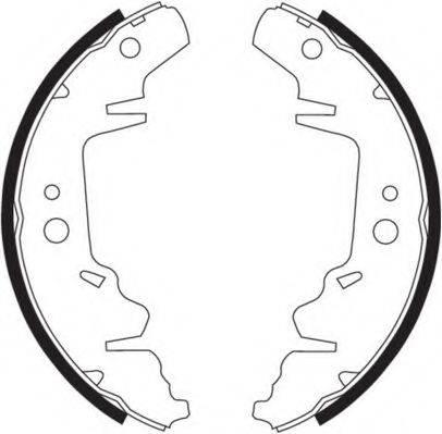 NECTO N1588 Комплект тормозных колодок