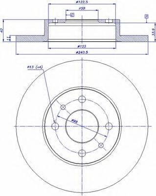 CAR 142167 Тормозной диск