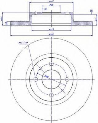 CAR 142168 Тормозной диск